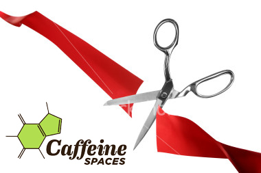 Tonight is Caffeine Spaces Grand Opening / Ribbon Cutting Ceremony - coworking space in south Flordia - Boca FAU