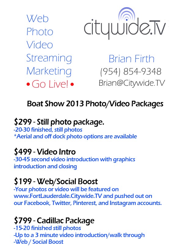 Citywide.TV FLIBS 2013 Price Sheet