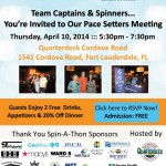Marine Industry Cares Spinathon Pace Setters Meeting Today at Quarterdeck